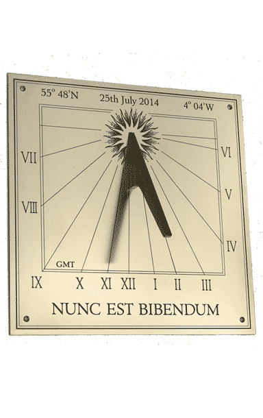 vertical sundial WD2